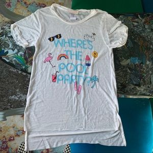 Junk Food Girls Pool Party T-shirt Size 10/L